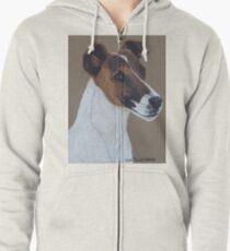 Fox Terrier Vignette Zipped Hoodie