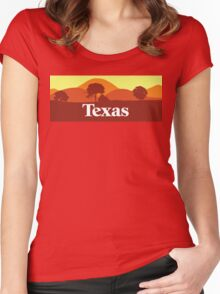 Scenic Texas Women's Fitted Scoop T-Shirt