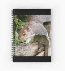 Squirrel On the Hunt Spiral Notebook