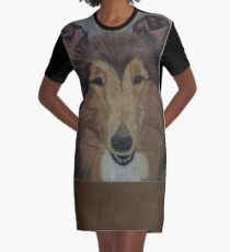 Bearded Collie Graphic T-Shirt Dress
