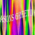 SEASONS GREETINGS CHRISTMAS CARD by Heather Friedman