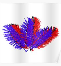 3D Leaves Poster
