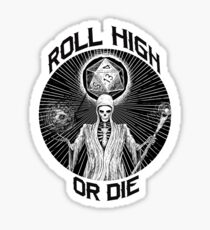D20 Reaper - Roll High or Die d&d - Dungeons & Dragons Sticker