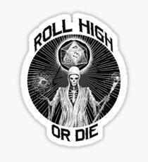 D20 Reaper - Rolle hoch oder stirb d & d - Dungeons & Dragons Sticker