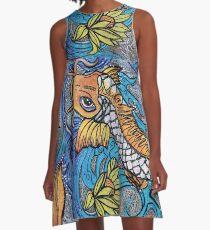 Glitzer Fisch A-Linien Kleid