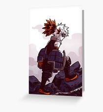 Bakugou Destruction  Greeting Card