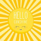 KIDS KAWAII - HAPPY SMILING SUN - HELLO SUNSHINE by Kat Massard