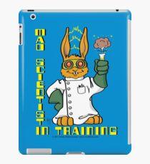 Cartoon Kids Mad Scientist In Training Bunny iPad Case/Skin