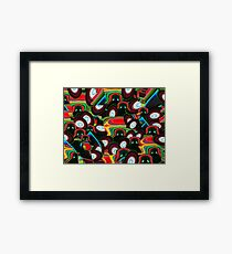 Disco Darth - Space Fantasy Abstract Framed Print
