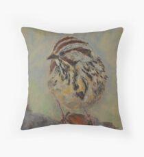 Lincoln's Sparrow Throw Pillow