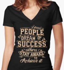 Dream of Success Women's Fitted V-Neck T-Shirt