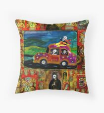 Joy Riding Day of the Dead Throw Pillow