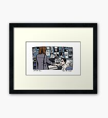 X-Files - Scully and Mulder Framed Print