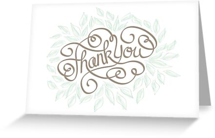 Hand drawn Thank You card by dandelilystudio