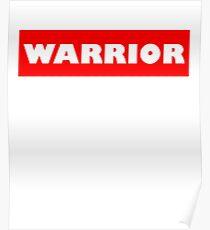 Warrio white Poster