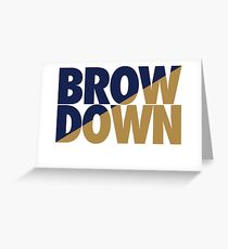Brow Down (Blue/Gold) Greeting Card