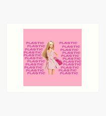 """Plastic"" Glitter Pink Pastel Art Print"