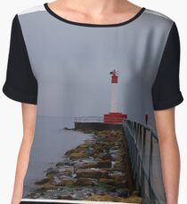 Lonely Lighthouse Chiffon Top