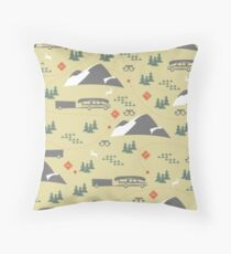 Family Road Trip Throw Pillow