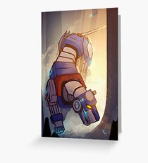 Blue and Her Paladin Greeting Card