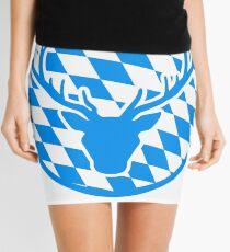 deer horns oktoberfest text lettering shirt cool design Mini Skirt