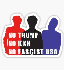 """No Trump - No KKK - No Fascist USA"" - Green Day Sticker"