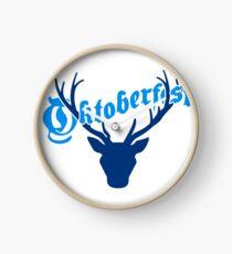 deer horns oktoberfest text lettering shirt cool design Clock