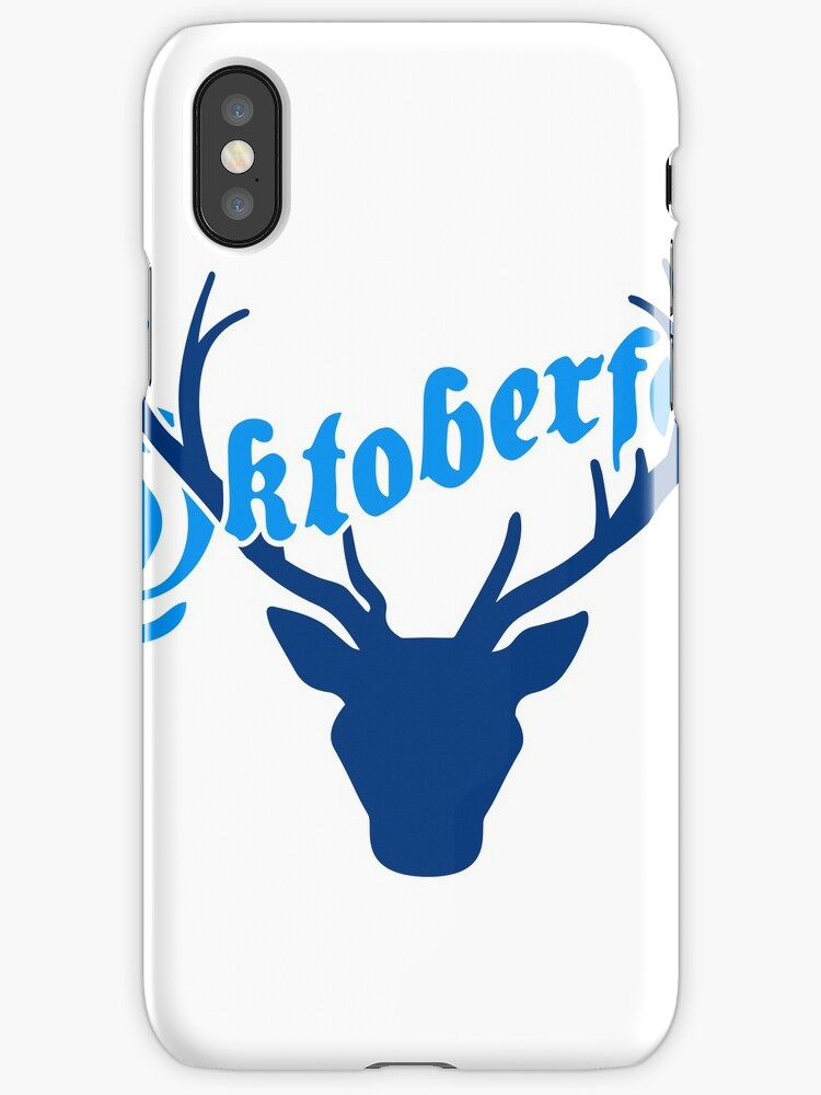 deer horns oktoberfest text lettering shirt cool design by Motiv-Lady
