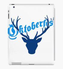 deer horns oktoberfest text lettering shirt cool design iPad Case/Skin