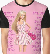 """Plastic"" Glitter Pink Pastel Graphic T-Shirt"