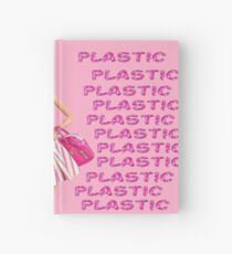 """Plastic"" Glitter Pink Pastel Hardcover Journal"