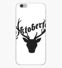 deer horns oktoberfest silhouette black shirt cool design iPhone Case