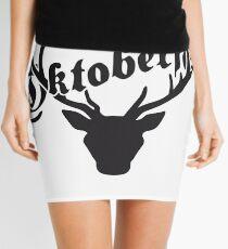 deer horns oktoberfest silhouette black shirt cool design Mini Skirt