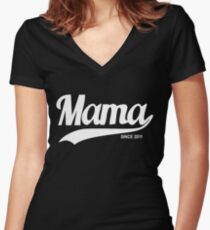 Mama 2011 Women's Fitted V-Neck T-Shirt