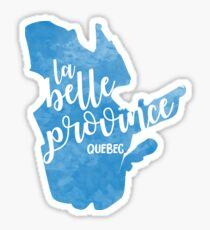 Quebec - la belle province Sticker