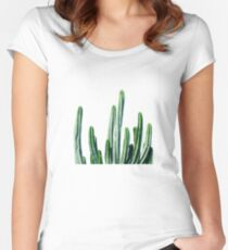 Cactus V6 #redbubble #lifestyle Women's Fitted Scoop T-Shirt