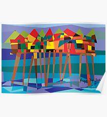 Habitat-Houses on Stilts Poster