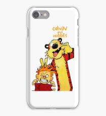 Calvin And Hobbes Camera Pose iPhone Case/Skin