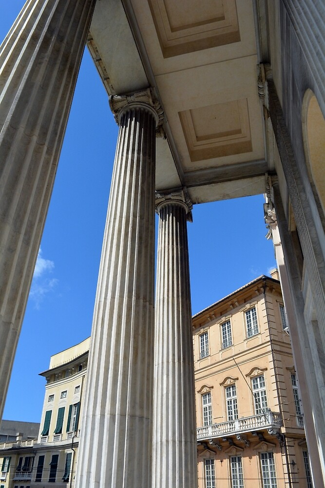 Classical ionic temple from Genova, Italy by oanaunciuleanu