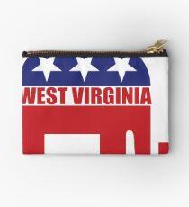 West Virginia Republican Elephant Studio Pouch