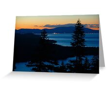 Sunset Looking North From Angora Ridge Greeting Card