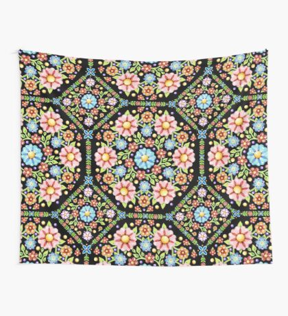 Millefiori Floral Wall Tapestry