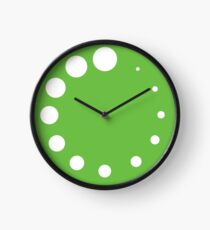 Grüne Malerpalette Uhr