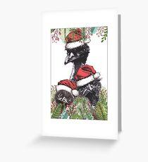 Christmas Emus Greeting Card