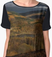 Fall scenery at The Trossachs National Park Women's Chiffon Top