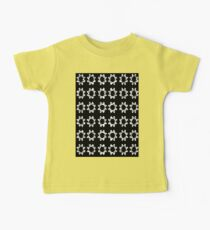Black and White Floral Baby Tee