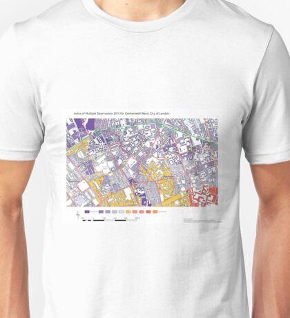 Multiple Deprivation Clerkenwell ward, City of London Unisex T-Shirt