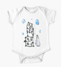 Kaz Art Creation Kids Pandas & Penguin  One Piece - Short Sleeve