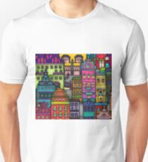 Folk Art City scene Unisex T-Shirt