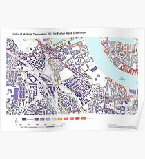 Multiple Deprivation Evelyn ward, Greenwich Poster
